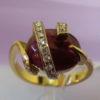 """Пурпурное сердце"""" кольцо рубиновое с бриллиантами2"""